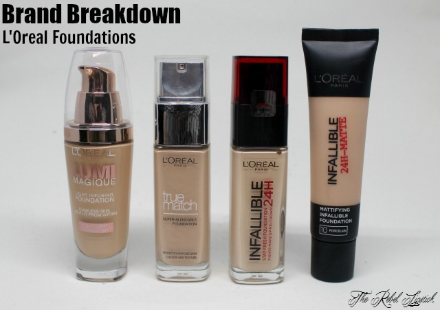 Brand Breakdown L'Oreal Foundations