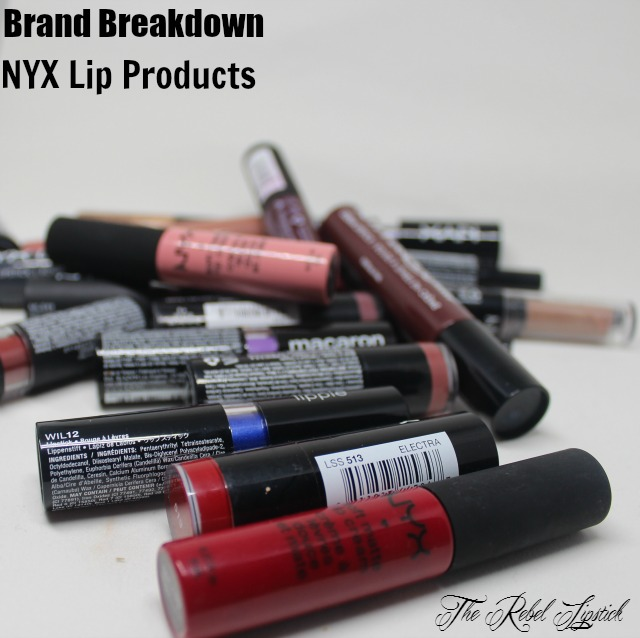 The Rebel Lipstick The Glamour Nazi Irish Beauty Blog Blogger Photo Swatch Swatches Photos Brand Breakdown NYX Lip Products Slim Pencil Round Lipstick Wicked Lippie Macaron Matte High Voltage Butter Gloss Liquid Suede Soft Matte Cream Glam