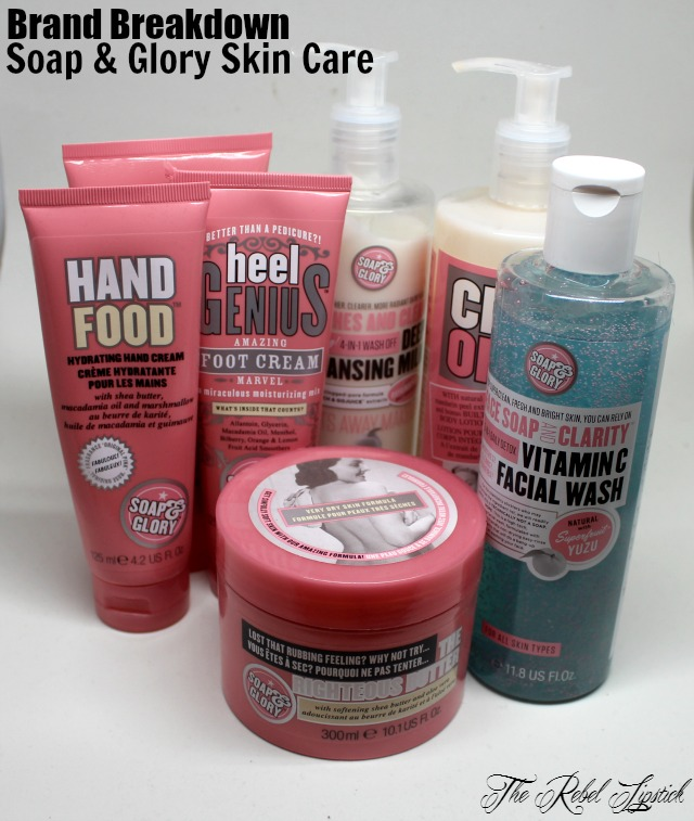 Soap & Glory Hand Maid Antibacterial Gel Food Hydrating Cream The Righteous Butter Face Clarity Vitamin C Facial Wash Clean On Me Creamy Shower Peaches Cleansing Milk Heel Genius Scrub of your Life The Rebel Lipstick The Glamour Nazi Irish Beauty Blog Blogger Photo Swatch Swatches Photos Ireland