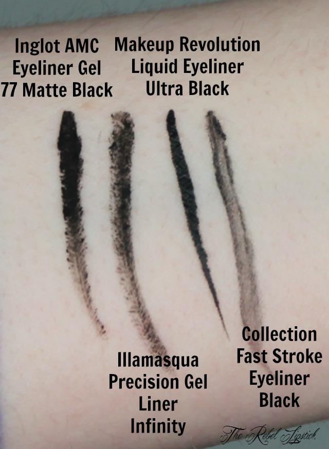 Inglot Eyeliner Comparisons