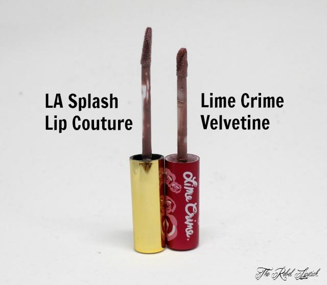 LA Splash Lip Couture versus Lime Crime Velvetines Wands