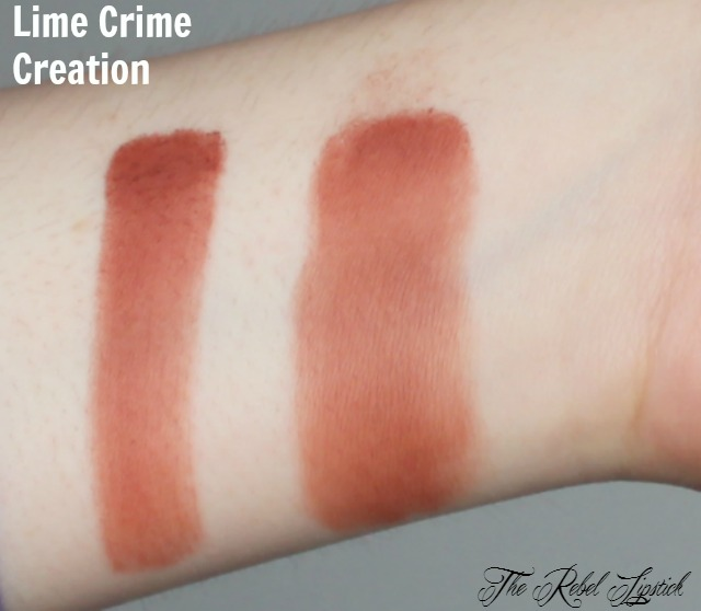 Lime Crime Creation Swatch
