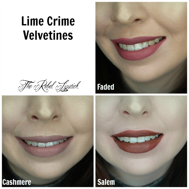 Lime Crime Velvetines Cashmere Faded Salem Swatches The Rebel Lipstick The Glamour Nazi Irish Beauty Blog Blogger Photo Swatch Swatches Photos
