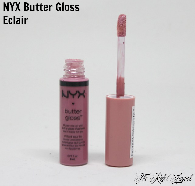 NYX Butter Gloss 02 Eclair The Rebel Lipstick The Glamour Nazi Irish Beauty Blog Blogger Photo Swatch Swatches Photos