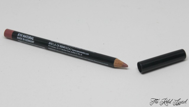 NYX Slim Lip Pencil 810 Natural The Rebel Lipstick The Glamour Nazi Irish Beauty Blog Blogger Photo Swatch Swatches Photos