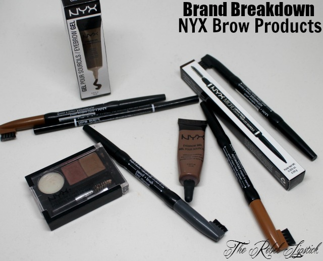NYX Brand Breakdown Eyebrow Cake Powder Brow Gel Auto Pencil Micro Comparison Contrast Difference The Rebel Lipstick The Glamour Nazi Irish Beauty Blog Blogger Photo Swatch Swatches Photos Ireland