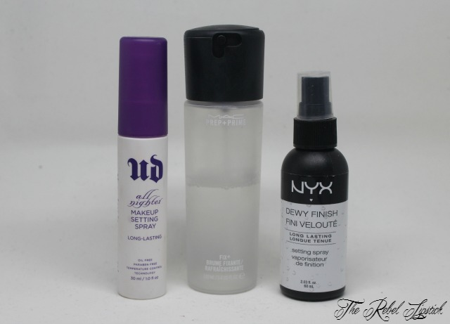 Mac Prep & Prime Fix + Urban Decay All Nighter Setting Spray NYX Dewy Finish Mist