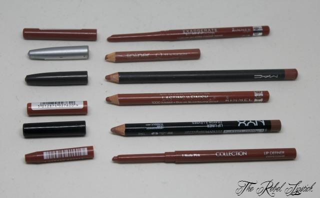 Nude Brown Lip Pencils