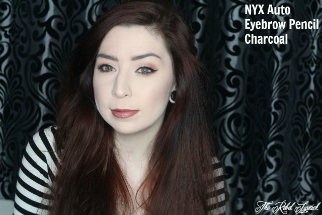 NYX Auto Eyebrow Pencil 07 Charcoal Swatch Full Face
