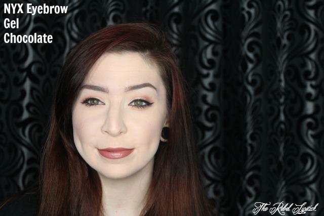 NYX Eyebrow Gel Swatch Full Face