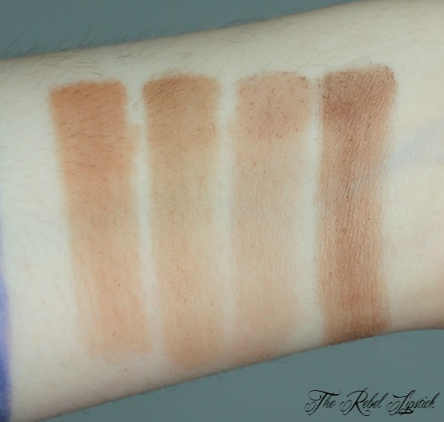 NYX Highlight and Contour Pro Palette Contour Swatches