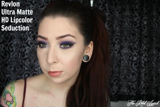 The Rebel Lipstick The Glamour Nazi Irish Beauty Blog Blogger Photo Swatch Swatches Photos Ireland Revlon Ultra HD Matte Lipcolor Seduction