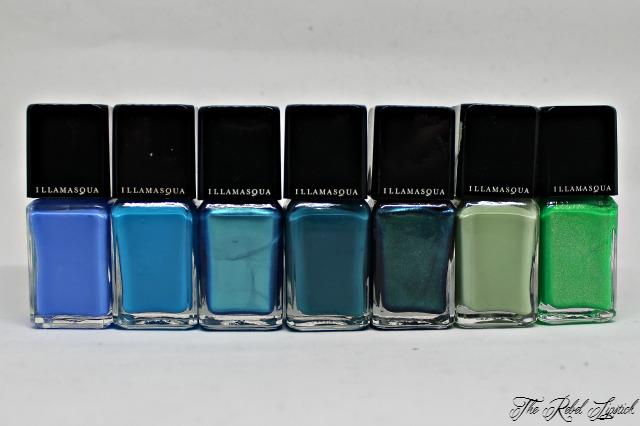 Illamasqua Nail Varnish Collection Greens Blues
