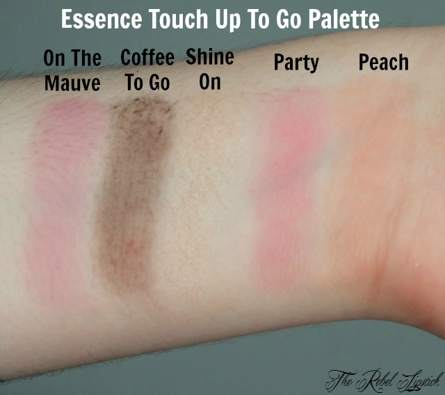 Essence Touch Up To Go Palette Swatches