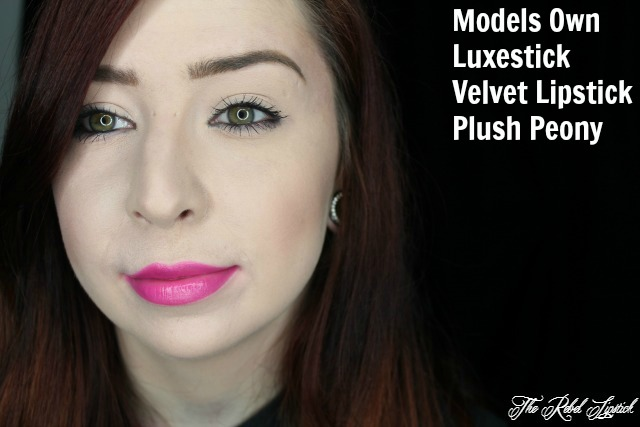 Models Own Luxestick Velvet Lipstick Plush Peony Full Face