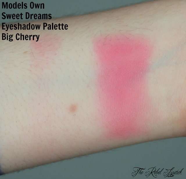 Models Own Sweet Dreams Eyeshadow Palette Big Cherry Swatch
