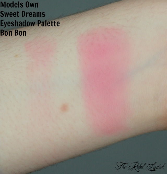 Models Own Sweet Dreams Eyeshadow Palette Bon Bon Swatch