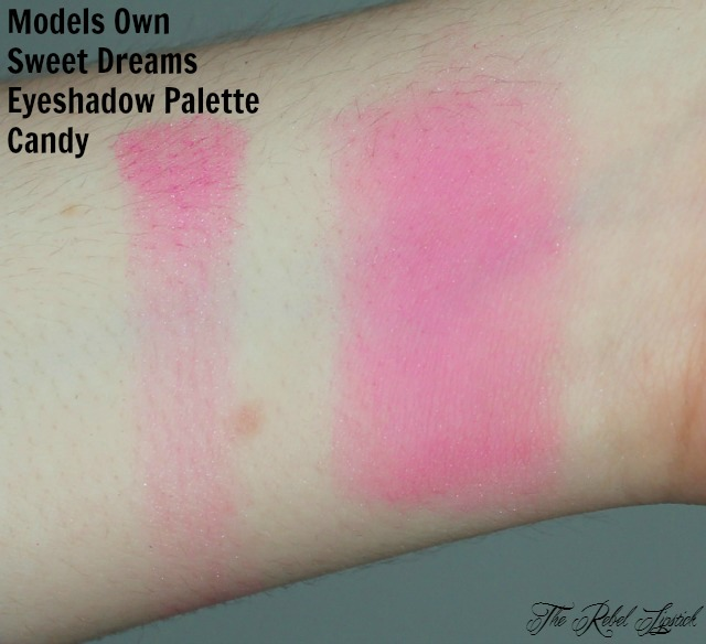 Models Own Sweet Dreams Eyeshadow Palette Candy Swatch