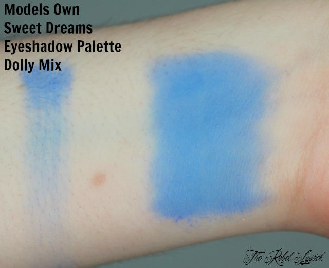 Models Own Sweet Dreams Eyeshadow Palette Dolly Mix Swatch