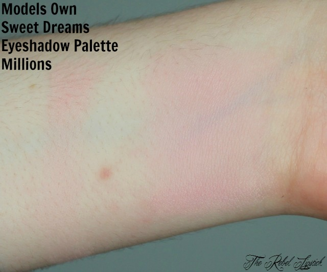 Models Own Sweet Dreams Eyeshadow Palette Millions Swatch