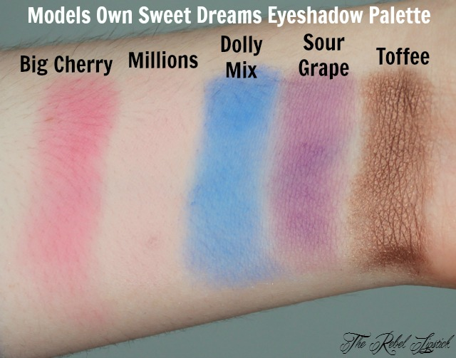 Models Own Sweet Dreams Eyeshadow Palette Swatches 2