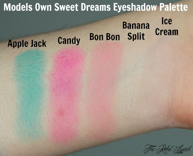 Models Own Sweet Dreams Eyeshadow Palette Swatches