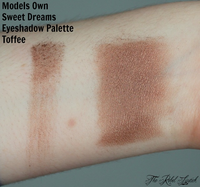 Models Own Sweet Dreams Eyeshadow Palette Toffee Swatch