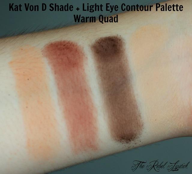 Kat Von D Shade + Light Eye Contour Palette Warm Quad