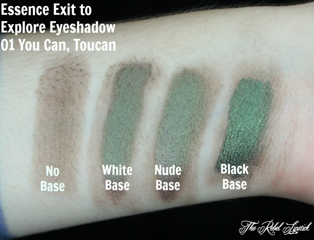 Essence Exit to Explore Trend Edition Eyeshadow 01 You Can, Toucan Swatches