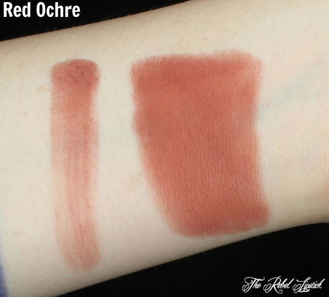 Red Ochre Swatches