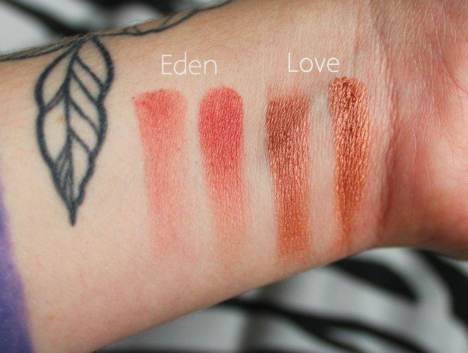 Eyeshadow Swatches 1 Eden Love