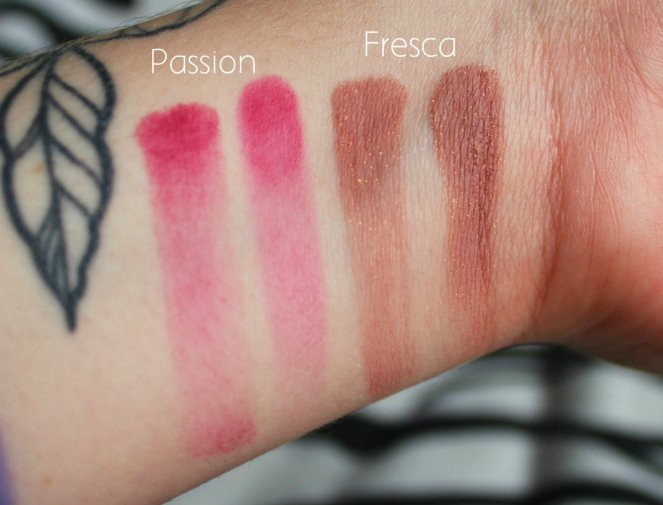 Eyeshadow Swatches 2 Passion Fresca