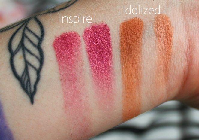 Eyeshadow Swatches 3 Inspire Idolized