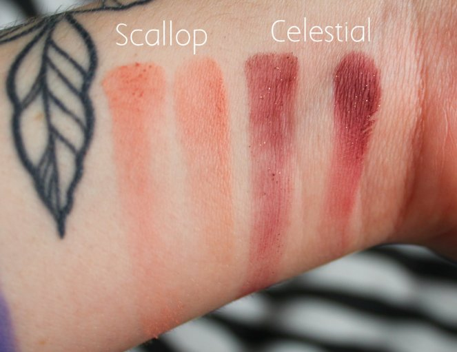 Eyeshadow Swatches 6 Scallop Celestial