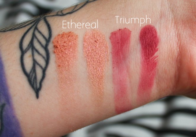 Eyeshadow Swatches 7 Ethereal Triumph