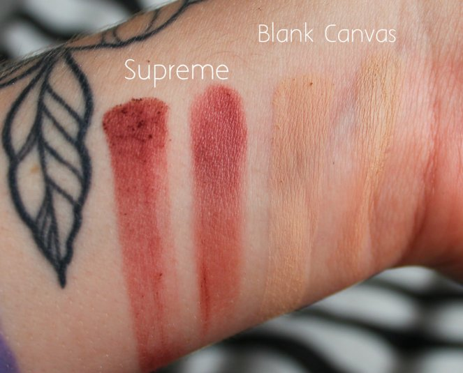 Eyeshadow Swatches 8 Supreme Blank Canvas
