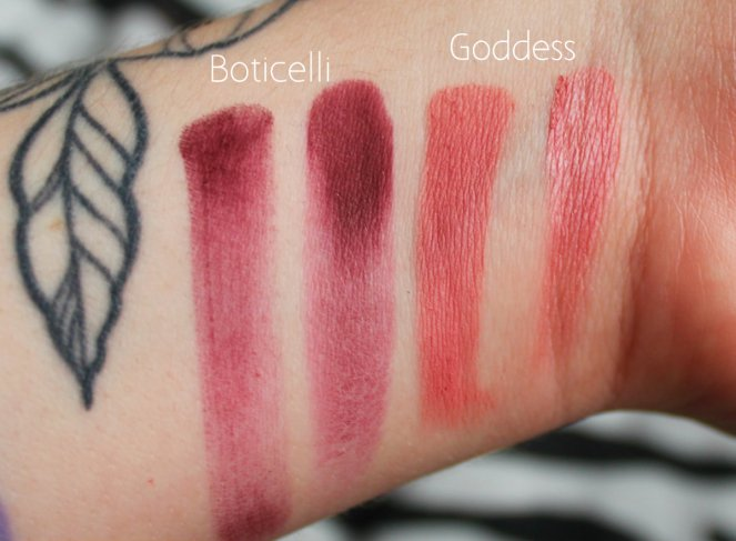 Eyeshadow Swatches 9 Boticelli Goddess
