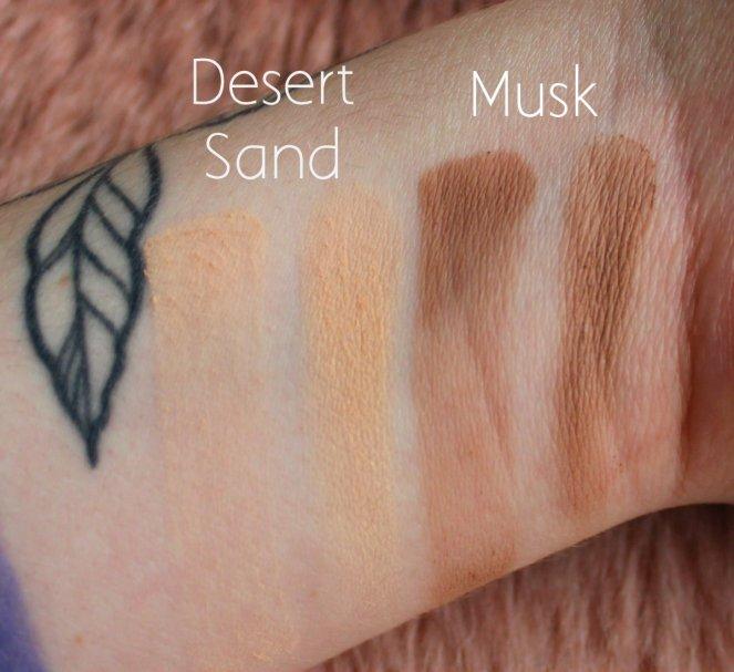 Huda Beauty Desert Dusk Eyeshadow Palette 1 Desert Sand Dusk Swatch