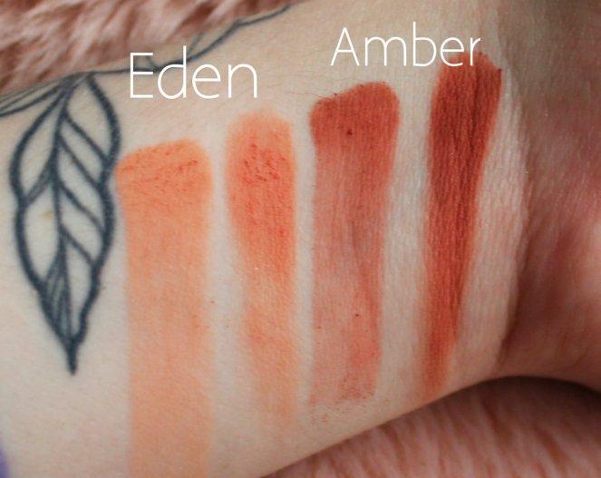 Huda Beauty Desert Dusk Eyeshadow Palette 2 Eden Amber Swatch