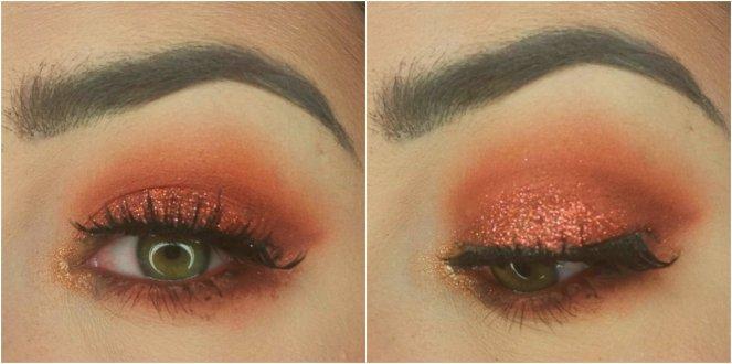 Huda Beauty Desert Dusk Palette Orange Eye