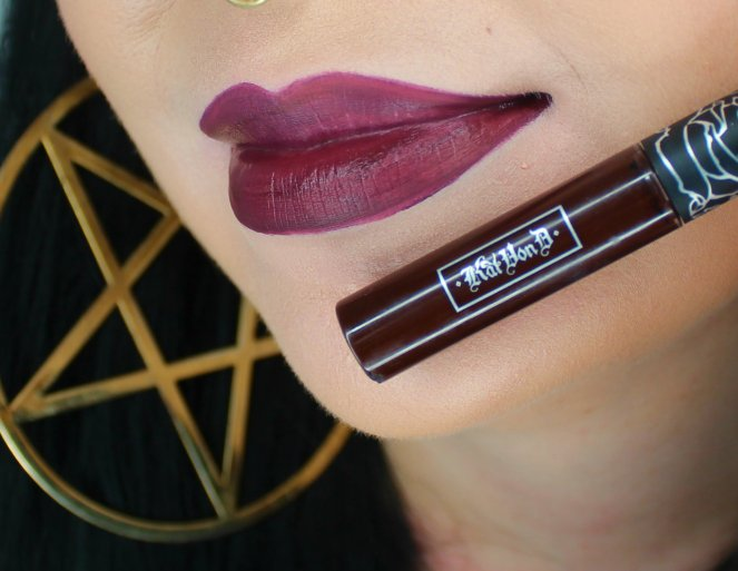 Kat Von D Everlasting Liquid Lipstick Damned Swatch 2