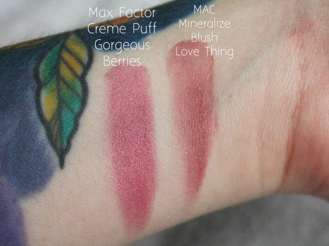 Blush Getting Rid Max Factor Creme Puff Gorgeous Berries MAC Mineralize Love Thing