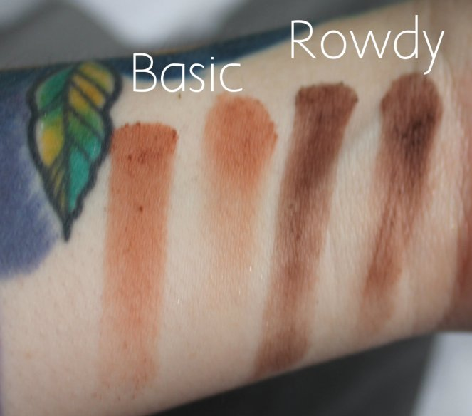 BPerfect Cosmetics x Stacey Marie Carnival Palette Basic Rowdy Swatches