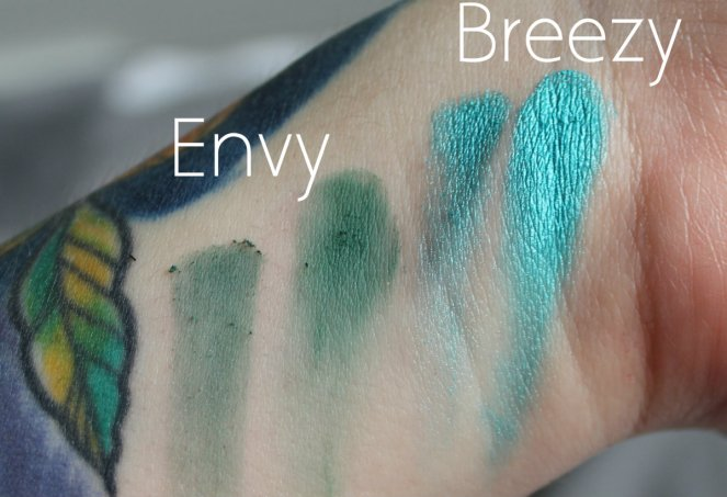 BPerfect Cosmetics x Stacey Marie Carnival Palette Envy Breezy Swatches