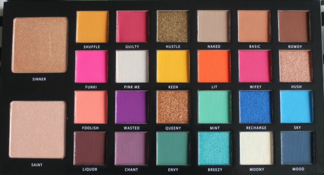 BPerfect Cosmetics x Stacey Marie Carnival Palette Inside
