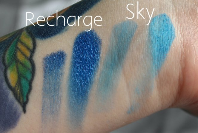 BPerfect Cosmetics x Stacey Marie Carnival Palette Recharge Sky Swatches