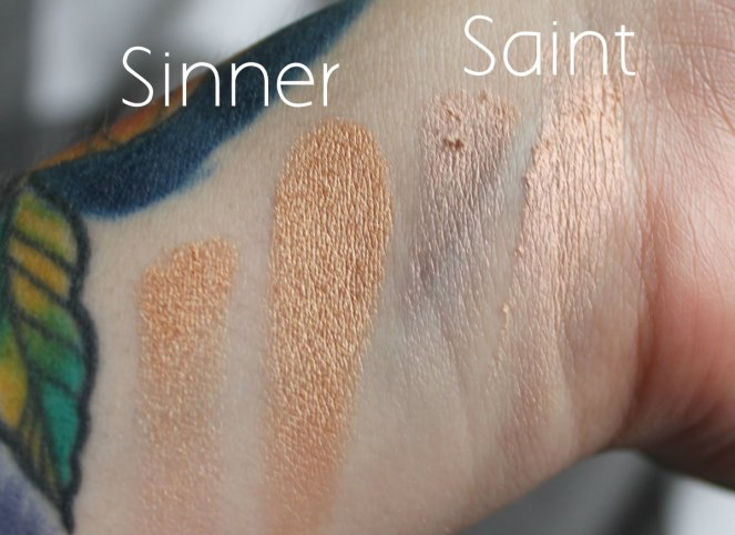 BPerfect Cosmetics x Stacey Marie Carnival Palette Sinner Saint Swatches