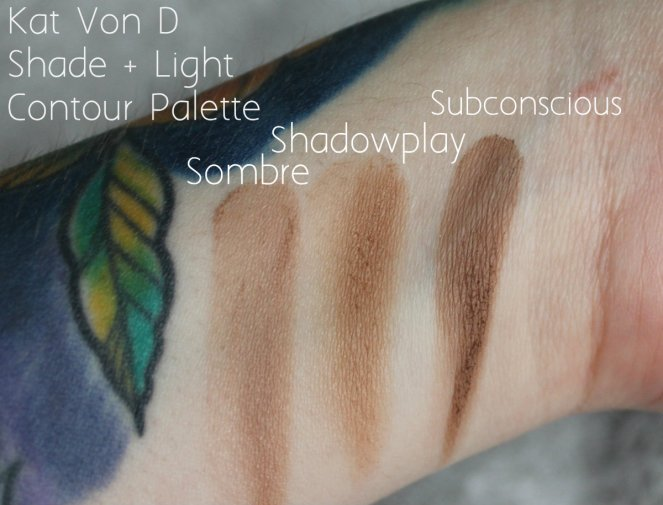 Bronzer Keeping Kat Von D Shade + Light Contour Palette Sombre Shadowplay Subconscious