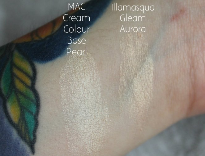 Highlighter Keeping MAC Cream Colour Base Pearl Illamasqua Gleam Aurora