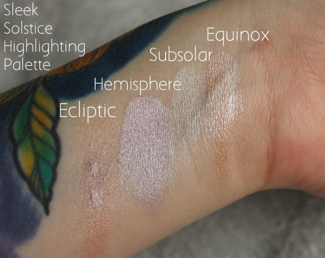 Highlighter Keeping Sleek Makeup Soltice Palette Ecliptic Hemisphere Subsolar